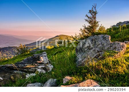 epic sunrise in high mountain ridge 29020394
