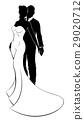 bride, wedding, silhouette 29020712