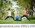 Attending yoga class 29021108