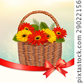 Holiday Easter background with colorful flowers 29022156