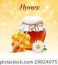 蜂蜜 插圖 玻璃 29024075