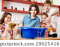 Curious smart children pouring chemical liquids in 29025416