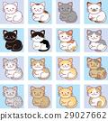 แมว,สัตว์,ภาพวาดมือ สัตว์ 29027662