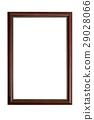 Wood frame brown on white background 29028066
