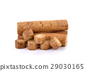 Fresh Burdock roots on white background 29030165