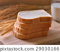 bread and wheat on the wooden 29030166