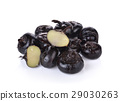 water-chestnut or water-nut on white background 29030263
