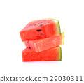 watermelon sliced  on white background 29030311
