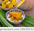 Thai Dessert, pumpkin in sweet coconut 29030532