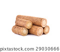 Fresh Burdock roots on white background 29030666