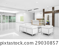 White chair at hospital hallway 29030857