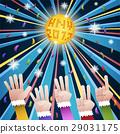 Happy new year countdown disco 29031175