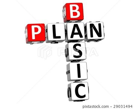 3D Basic Plan Crossword 29031494
