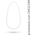 real white pearl necklace vector on a white backgr 29032289
