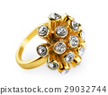 Golden  ring with diamonds 29032744