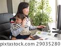 재택 근무하는 육아 엄마 29035280
