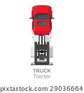 卡车 红色 红 29036664