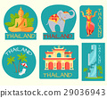 Thailand Poster of Cards with Symbolic Signs. 29036943