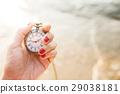 Woman holding Vintage pocket watch 29038181