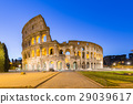 Night at The Colosseum landmark in Rome, Italy 29039617