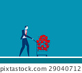 Businesmen shopping trolley with trophy 29040712
