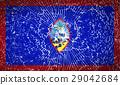 Flags Guam with broken glass texture. Vector 29042684