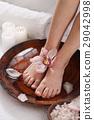 Salt bath for female legs. Spa concept 29042998