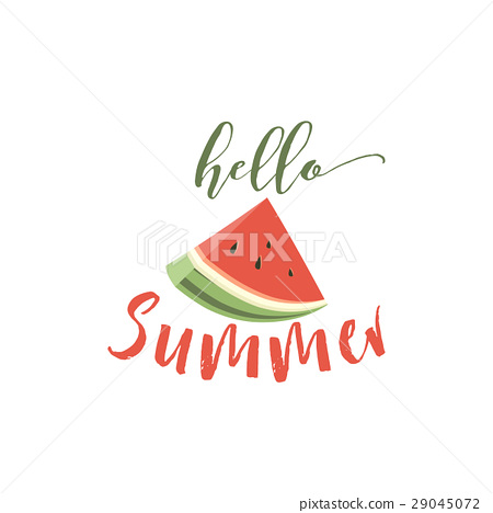 Hello summer card with melon 29045072