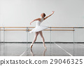 Beautiful ballerina rehearsal in ballet class 29046325
