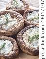 Baked mushrooms stuffed with feta 29047107