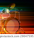 abstract grunge background with drum kit 29047595