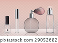 Collection of empty glass cosmetic bottles in 29052682