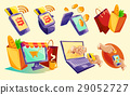 Isometric icons of mobile phones, laptop 29052727