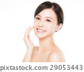 young  woman smiling face with clean  skin 29053443