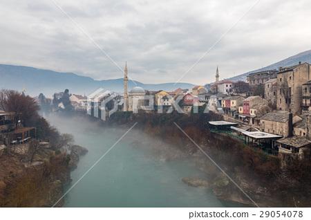 mostar, bosnia, neretva river 29054078