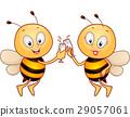 mascot bee couple 29057061