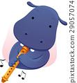 Mascot Music Hippopotamus Flute 29057074
