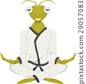 Mascot Praying Mantis Yoga 29057083
