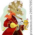Mascot Captain Triceratops Pirate 29057095
