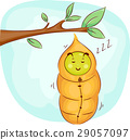 Mascot Sleeping Caterpillar Cocoon 29057097