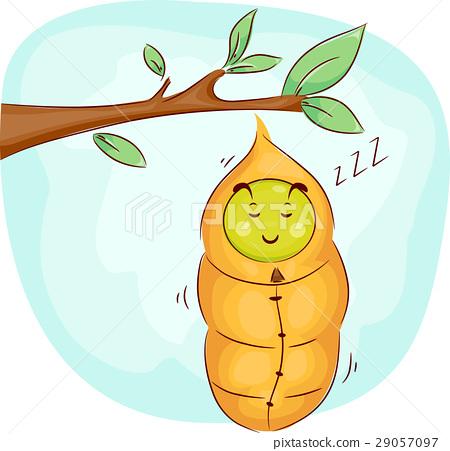 Mascot Sleeping Caterpillar Cocoon 29057097