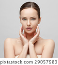 Beautiful Woman with Clean Fresh Skin  29057983