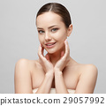 Beautiful Woman with Clean Fresh Skin  29057992