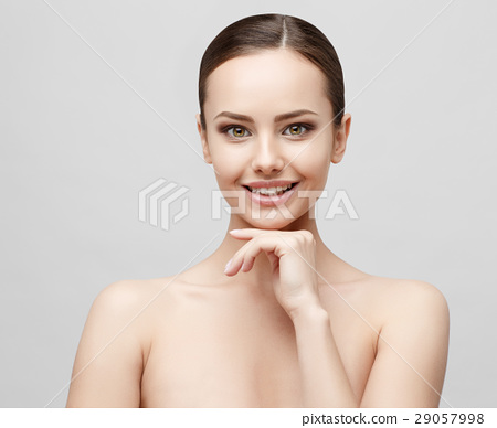 Beautiful Woman with Clean Fresh Skin  29057998