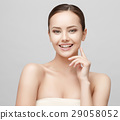 Beautiful Woman with Clean Fresh Skin  29058052
