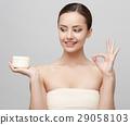 Beautiful Woman with Clean Fresh Skin  29058103