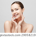 Beautiful Woman with Clean Fresh Skin  29058219