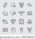 American football line icon 29058402