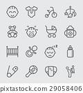 Baby line icon 29058406