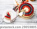 cream, berry, fruitcake 29059805